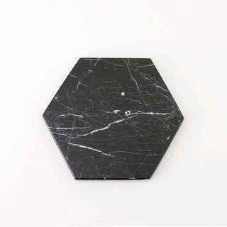 Hexagon Black Zircon Marble - Marmer - Diameter 12 cm