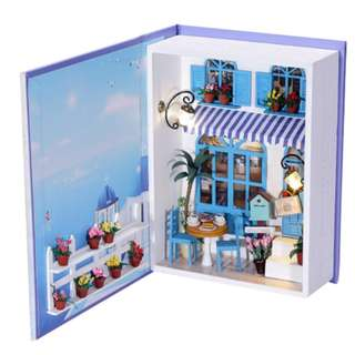 (Do-It-Yourself) Book Wooden Series with LED Lights -Summer Blue Diary