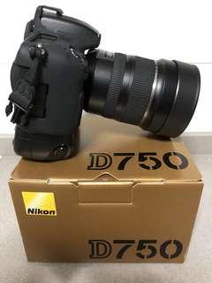 Nikon D750 DSLR and Tamron 15-30mm f2.8 lens for sale!