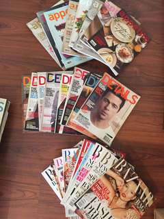 Clearance Magazines: Wallpaper, Interview, Bazaar, Vogue