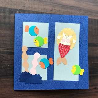Handmade mini cards 'The Little Mermaid'