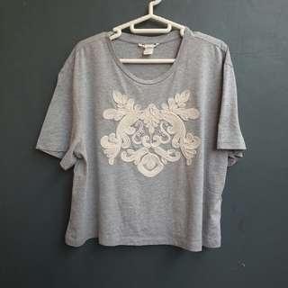 H&M grey blouse