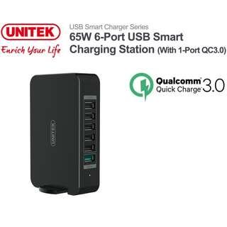 Unitek Y-P535 6 Port USB Charger 65W 快速 充電器 ( QC 3.0, BC 1.2) - 原裝行貨