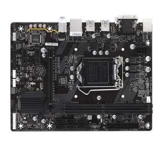 (二手) 97%NEW 技嘉Gigabyte GA-B250M-D2V DDR4,LGA 1151,M-ATX主機板