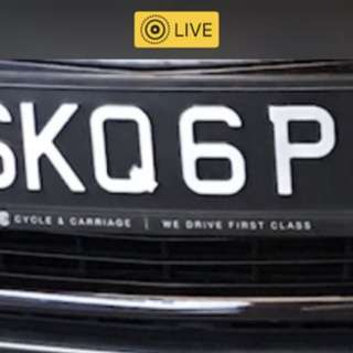 Car number plate vehicle no bidded