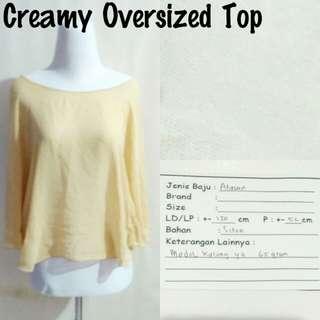 Creamy Oversized Top | Pakaian Wanita | Atasan Import