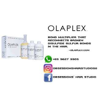 Hair Treatment Using Olaplex No1 & No.2