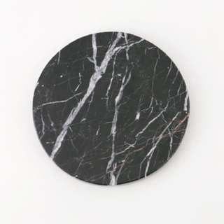Round Black Zircon Marble - Marmer - Diameter 20 cm