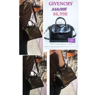 99% New GIVENCHY Antigona 黑色 皮革 手提袋 手挽袋 肩背袋 手袋 Medium Bag Handbag In Black
