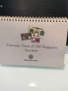 2000 calendar Currency Notes of Old Singapore
