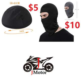 Face Mask / scarf / Arm Sleeve. Motorcycle Riding OGK Mesh Head Lining / Head Scarf / Head Cover