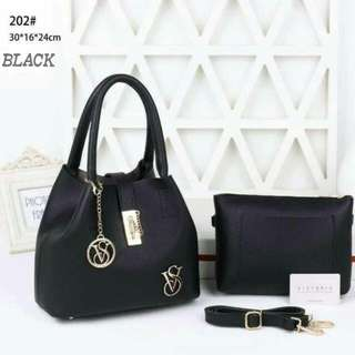 Victoria Secret 2 in 1 Bag Black