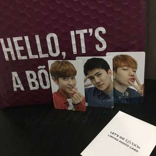 [WTT/WTS] EXO Let's Go ElyXiOn Photocards