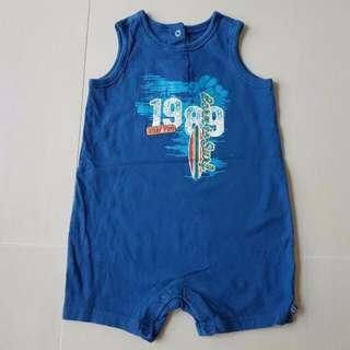 Infant 24M The Children's Place Blue Sleeveless Romper, Kids, Boys Clothes