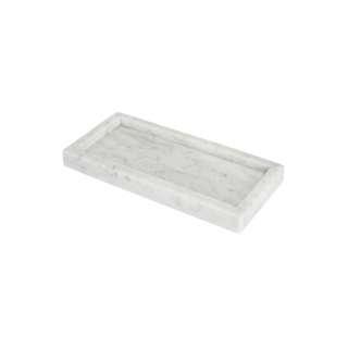Tray White Moonstone Marble - Marmer - 25 x 10