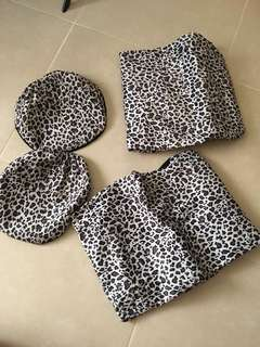 LEOPARD PRINT SEAT COVER UNIVERSAL