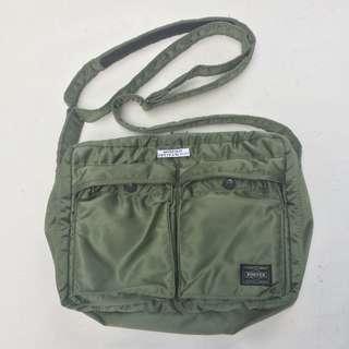 PORTER tanker hijau shoulder bag