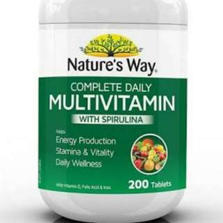 Healthy Supplement nature's way multivitamin 200 tablets multi vitamin 維他命 丸