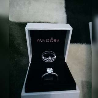 Pandora Inspired 2 in 1 Ring Set
