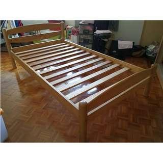 Katil Super Single Bed Frame Wood * L05 L