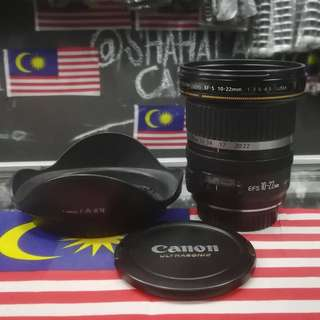 USED CANON EF-S 10-22MM F3.5-4.5 ULTRA WIDE LENS