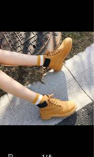brand new: timberland inspired yellow boots