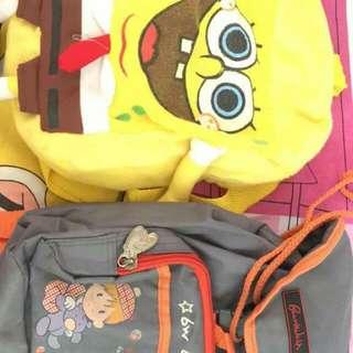 Sponge bob and boardwalk bag for kids