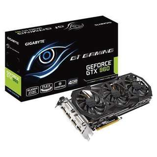 GIGABYTE GTX960 4GB G1 GAMING 連盒 有單