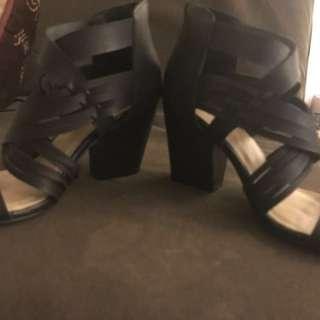 Just Fab Block Heel Open Toe Shoes