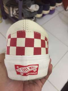 Vans Ori checkboard white red
