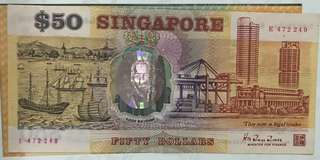 $50 old currency note