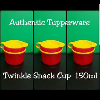 Authentic Tupperware  Twinkle Snack Cup 150ml  《Retail Price S$5.90/Piece》 red tup