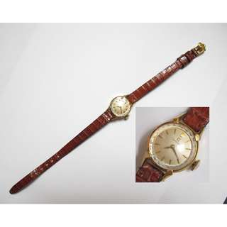 Vintage 60's Omega 18K Solid Gold Manual Wind Ladies Wristwatch / 60年代 亞美加 18K 金女裝斗零錶