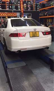 Honda Accord CL7 Fujisubo twin exhaust system