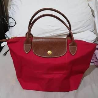 REPRICED!! Authentic Longchamp Le Pliage Small Cherry Red