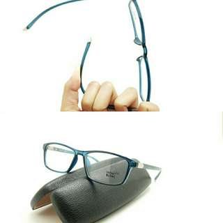 PAKET LENSA MINUS ANTI RADIASI frame kacamata mb 9002