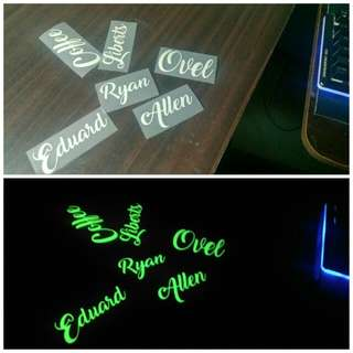 Personalized Glow In The Dark Name Tags