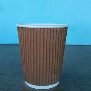 Rippled paper cup (8oz)