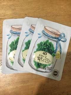 Foodaholic 4D Green Tea Face Masks