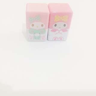 My Melody stamps x2