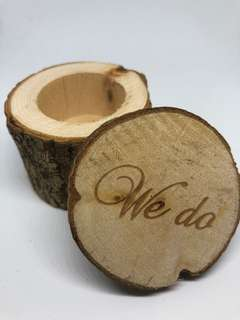 Wooden Wedding We Do Ring Holder