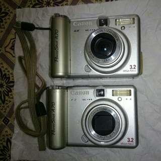 Camera canon A 70