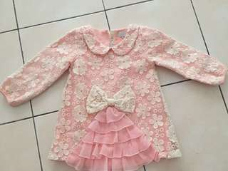 Lace pinky Tops