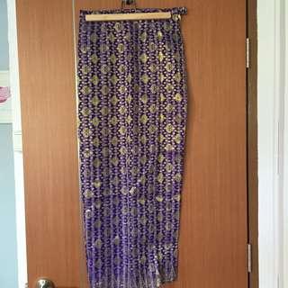 DONATION DRIVE: Songket skirt (Tulip flap)