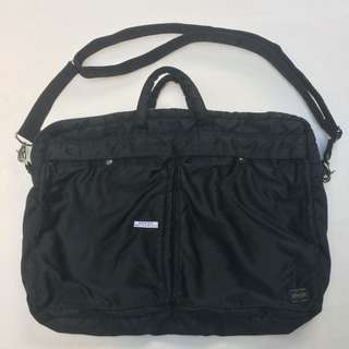 PORTER tanker briefcase hitam