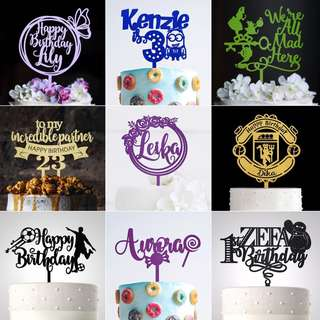 Personalized Wedding Acrylic Cake Topper