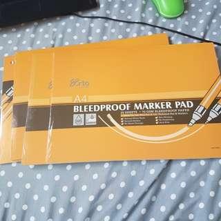 Arto bleedproof marker pad (4 pads)