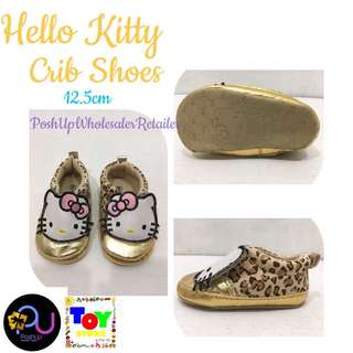 Hello Kitty Gold Crib Shoes