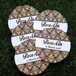 Black n gold design hantaran (wedding) tag