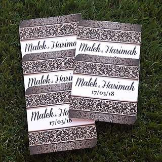 Rose gold n black design hantaran (wedding) tag